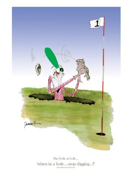 Signed Golf Cartoons